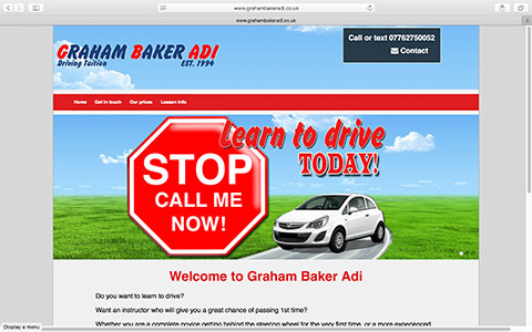 Websites for driving instructors - Graham Baker Adi