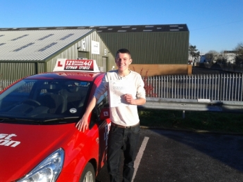 No more mopeds to work for Andrew December at Sutton in Ashfield test centre Passed first time