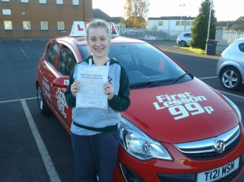 passes first time at Sutton in Ashfield. No more taxi service from the boyfriend....