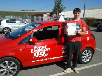 passed first time at Sutton in Ashfield Test centre. Another happy chappy....