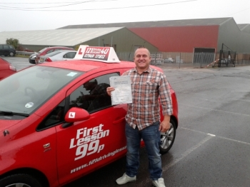 Passed October at Sutton in Ashfield Test Centre
