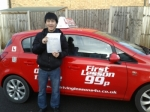 Lewis passed with 121drivinglessons4u