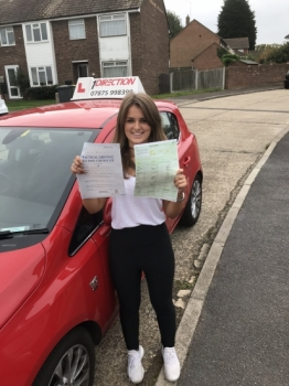 Amazing first time pass with no driving faults whatsoever Well done and happy driving 👍