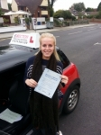 Sarah Hume passed with 1 Direction Driving School