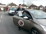 Aidan passed with 1st Start Driving School