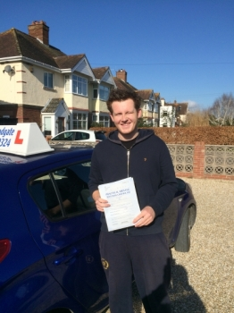 Well done Connor - 2 minor faults !!...