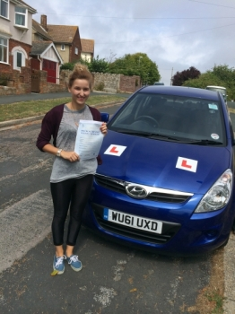 Well done Natalie 2 minor driving faults...