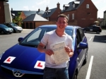Aaron Gilham  passed with Andy Woodgate Driver Training Ltd