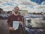 Billy Muircroft passed with Andy Woodgate Driver Training Ltd