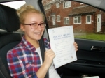Chloe passed with Andy Woodgate Driver Training Ltd