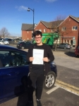Corey passed with Andy Woodgate Driver Training Ltd