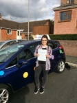 Ella Woodhouse passed with Andy Woodgate Driver Training Ltd