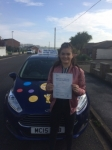 Farrah passed with Andy Woodgate Driver Training Ltd
