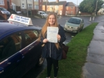Fantastic drive Gemma - only  1 minor fault passed with Andy Woodgate Driver Training Ltd