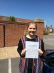 Hannah passed with Andy Woodgate Driver Training Ltd