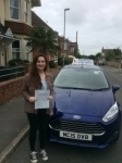 Francesca Fairbank passed with Andy Woodgate Driver Training Ltd