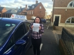 Zoe passed with Andy Woodgate Driver Training Ltd