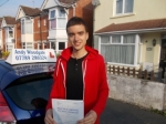 Jonny  passed with Andy Woodgate Driver Training Ltd