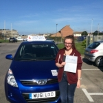 Kate passed with Andy Woodgate Driver Training Ltd