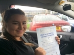Laura Boyall passed with Andy Woodgate Driver Training Ltd