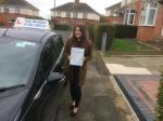 Lauren Baldwin passed with Andy Woodgate Driver Training Ltd