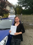 Sarah Jepps - 2 minor faults passed with Andy Woodgate Driver Training Ltd