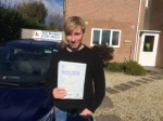 Tom passed with Andy Woodgate Driver Training Ltd