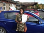 Doyin passed with Andy Woodgate Driver Training Ltd