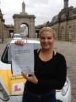 Ashleigh Finn passed with Bryan's School Of Motoring