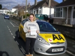 Bess McGee passed with Bryan's School Of Motoring