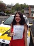 Holly O'Shaughnessy passed with Bryan's School Of Motoring
