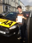 Joe Meagher passed with Bryan's School Of Motoring