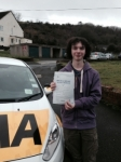 Justin Swift passed with Bryan's School Of Motoring