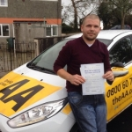 Lee Wynn passed with Bryan's School Of Motoring
