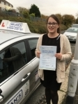 Linzie Collins passed with Bryan's School Of Motoring