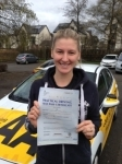 Lucy Williams passed with Bryan's School Of Motoring