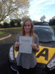 Tori Bower passed with Bryan's School Of Motoring