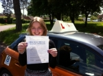 Bryony Manger - Mundesley passed with Sylvia's School of Motoring