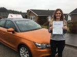 Louise George - Sheringham passed with Sylvia's School of Motoring