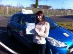 Kayleigh Pollard - Cromer passed with Sylvia's School of Motoring