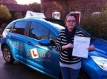 Sara Borland - Cromer passed with Sylvia's School of Motoring