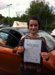 Sasha Norris - Coltishall passed with Sylvia's School of Motoring