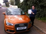 Katie Ahrendt - Mundesley passed with Sylvia's School of Motoring