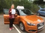 Lauren Burt - Mundesley passed with Sylvia's School of Motoring