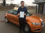 Sam Amis - Trunch  passed with Sylvia's School of Motoring
