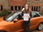 Georgie Pigott - Sheringham  passed with Sylvia's School of Motoring