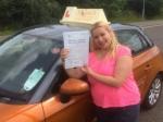 Angela Bandarra - Cromer  passed with Sylvia's School of Motoring