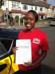 Asha passed with Caroline Driving Tuition