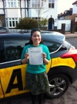Ja passed with Caroline Driving Tuition