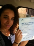 Malaika passed with Caroline Driving Tuition